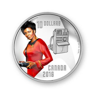 Moneda de plata Star Trek 1/2 oz Uhura