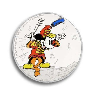 Moneda de plata Mickey Mouse 1 oz_color