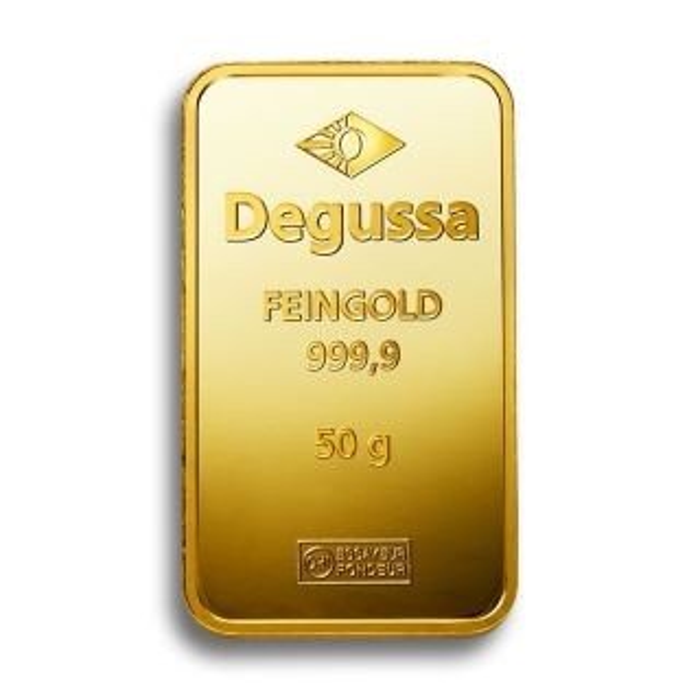 50 g Degussa gold bar