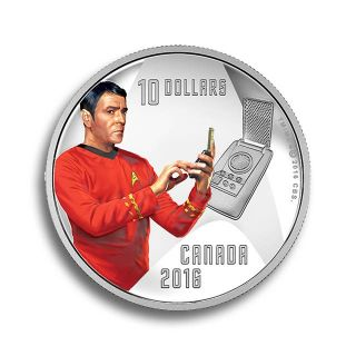 Moneda de plata Star Trek 1/2oz Scotty