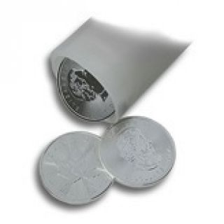 1 oz 2015 Canadian Maple Leaf silver coins in tube of 25 (differential taxation)