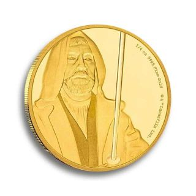 Moneda oro Star Wars ¼ oz Obi-Wan Kenobi
