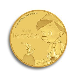 1/4 oz gold coin Pinocchio - Disney