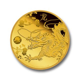 1/4 oz oro Feng Shui Dragon