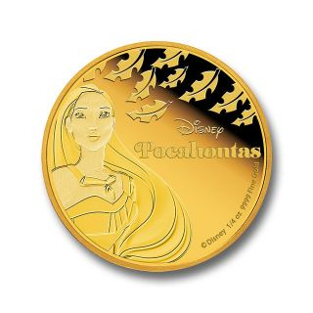 Moneda de oro 1/4 oz Pocahontas