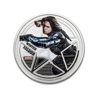 1 oz Plata - Cpt. America Winter Soldier